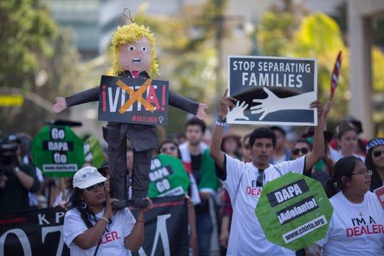 Protesta anti-Trump en Los Ángeles.