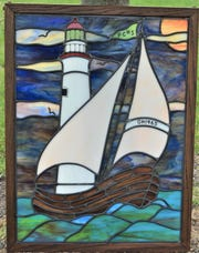 Ben Kendall created and donated this stained glass window for a raffle for the Port Clinton High School 50th class reunion.