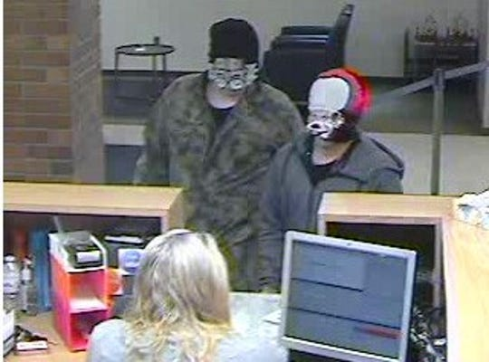 The two suspects involved in the alleged robbery at a Chase Bank in Marlette
