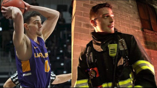 Albany sophomore and Northeastern grad Antonio Rizzuto is balancing being a volunteer firefighter with playing Division I basketball.