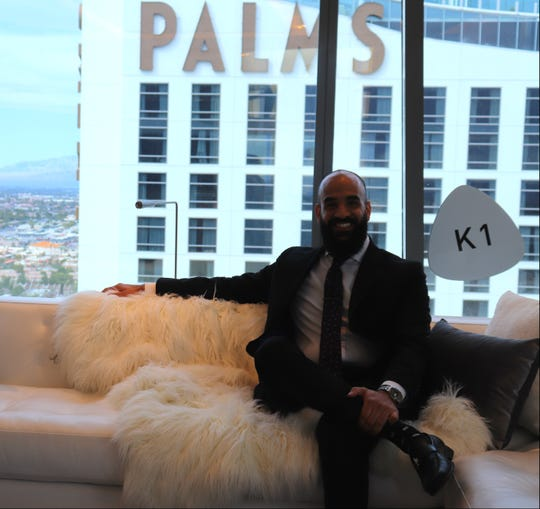 Joe Yalda started as a bus boy in Las Vegas. Now the Chicagoland native is the lead butler in charge of a $100,000 hotel room at the Palms.