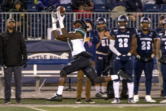 Receiver JoJo Ward and the Hawaii offense had a huge game against Nevada. The Warriors finished with 512 yards of total offense in a 54-3 win.