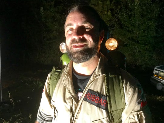 Ghostbuster Austin Hubbard, 35, of Springfield, says half the fun is making your own props.