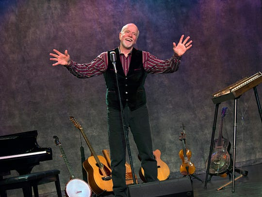 John McCutcheon begins his performance at 4 p.m. Oct. 6 at the Paramount Center for the Arts.