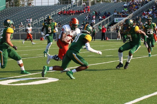 FAMU tight end Kamari Young runs after the catch against Norfolk State.