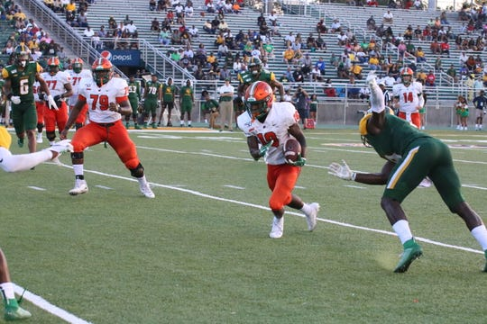 FAMU wide receiver Xavier Smith had a game-high 12 catches for 98 yards in the 30-28 win over Norfolk State.
