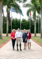 The 2019 Wings of Hope Luncheon features Congressman Brian Mast as guest speaker. Pictured with Mast, second from left, are Committee Chairs Carolyn Timmann, left, Vicki Davis and Ruth Pietruszewski.