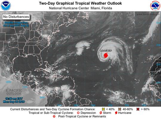 Hurricane Lorenzo 11 a.m. Sept. 30, 2019