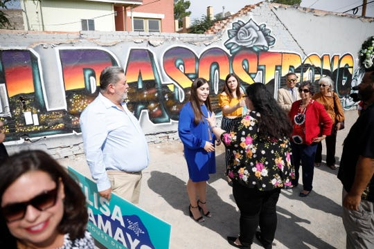 Elisa Tamayo, a daughter of Mexican immigrants, announced her candidacy for one of El Paso's seats in the Texas House of Representatives before a group of family and supporters.