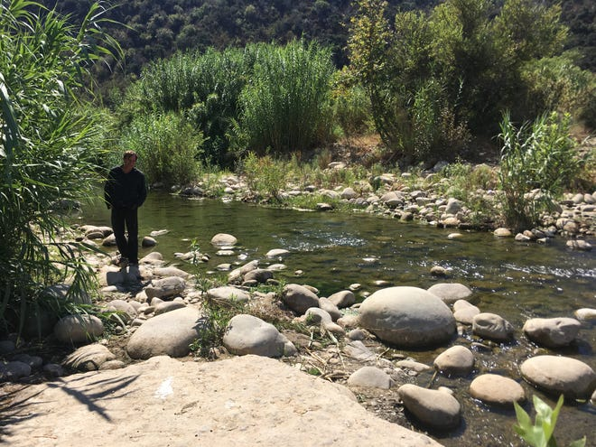 The Ventura River near Foster Park. The city of Ventura and the Santa Barbara Channelkeeper have reached an interim settlement on the pumping and diversion of water from the river.