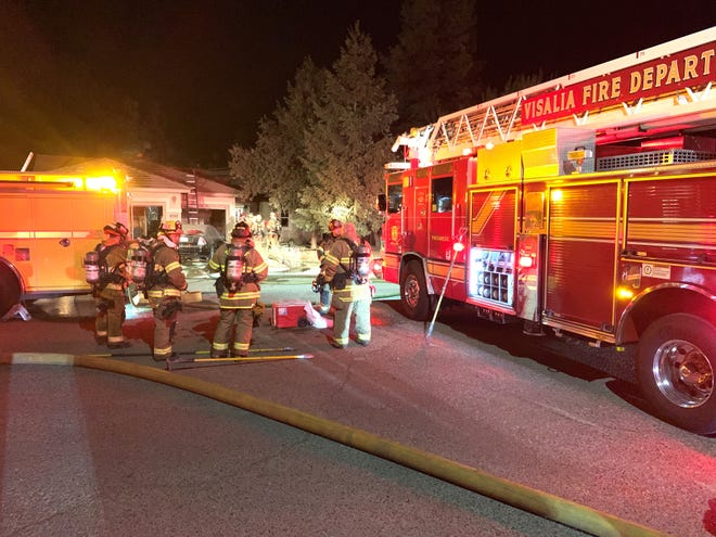 Visalia firefighters responded to a house fire at 4344 E. Meadow Avenue on Sunday, September 29, 2019.