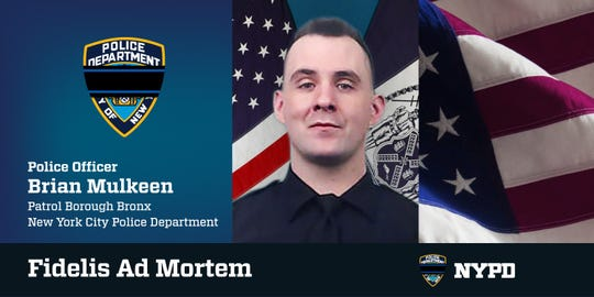 Brian Mulkeen, the officer who was shot and killed over the weekend in the Bronx.
