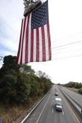 A motorcade takes Brian Mulkeen's body on Interstate 87 through Ramapo on Sept. 30, 2019. Mulkeen, an NYPD officer who grew up in Monroe and lived in Yorktown, died a day earlier.
