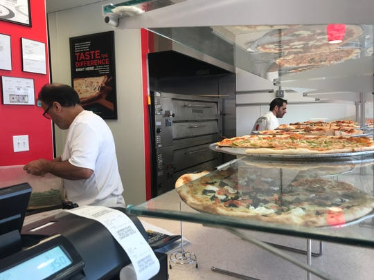 Pomodoro Pizza in Bethany Beach offers a variety of pizza by the slice. It closes in December and reopens in March.