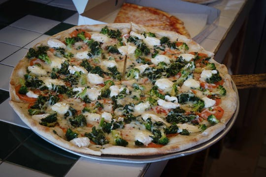 Broccoli and ricotta cheese at Little Anthony's in Community Plaza Shopping Center, in New Castle.