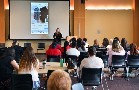 Midwestern State University helds it's fourth annual Social Media Day and local entrepreneur Jessica Edwards was one of the speakers.