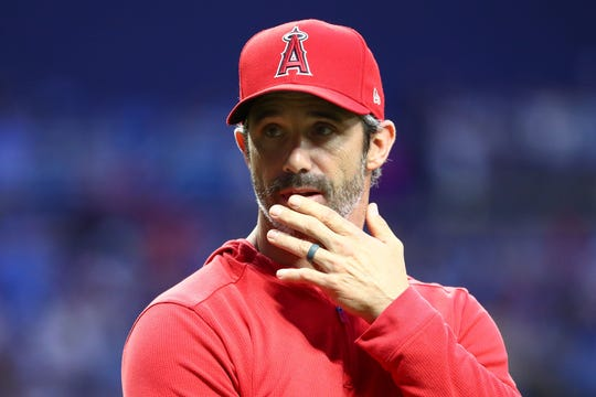Brad Ausmus was hired by the Angels in October 2018.