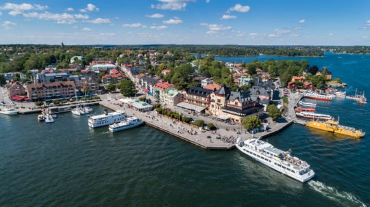 Ferries serve over 100 of the islands that comprise the Stockholm archipelago, often starting with Vaxholm, the gateway.