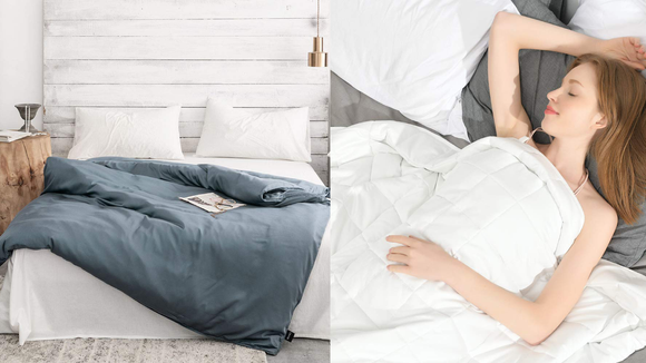 Curl up with a 15-pound blanket for even more relaxation.