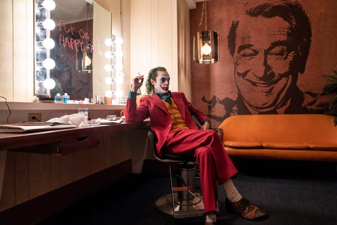 "Joaquin Phoenix is a transformed man, going from troubled outcast to self-confident miscreant in ""Joker."""