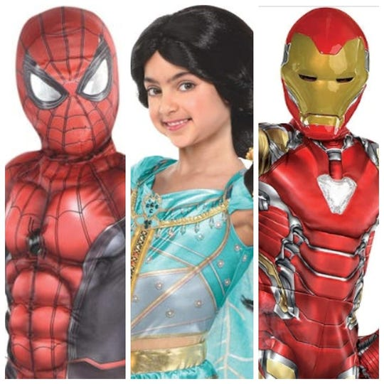 Spider-Man, princess costumes and Avenger costumes made the top 10 list of most popular costumes this year.