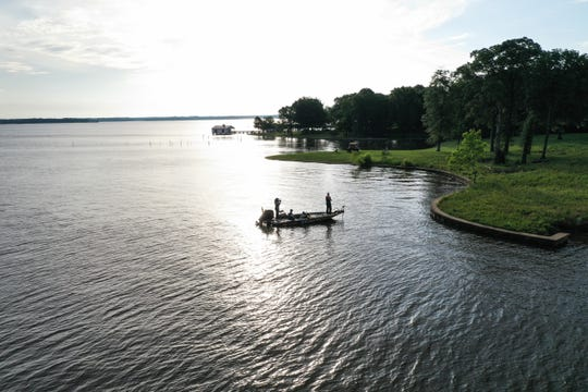 """""""There's never a harvest of bass, which keeps the lake full of really, really nice size fish,"""" Hall says of Texas' Lake Fork."""