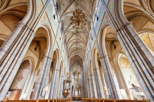 The Lutheran cathedral in Uppsala is one of Scandinavia's largest and has long been the seat of the Church of Sweden.