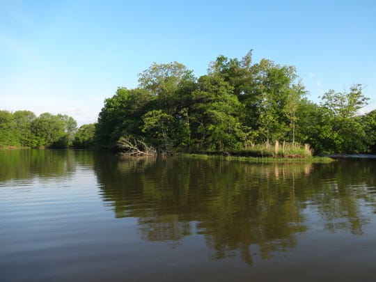 """""""The state of Illinois has done a really good job of stocking"""" Newton Lake, Hall says."""