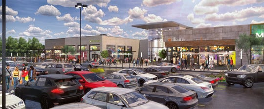 A rendering of the new entrance to Ocean County Mall.