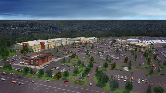 A rendering of the lifestyle center, now under construction at Ocean County Mall.