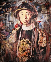 """Last Emperor,"" a 2009 tapestry by Hung Liu at The Grace Museum."