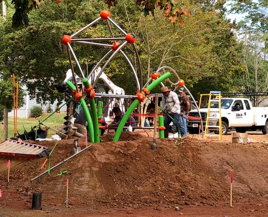 Work at the Augusta Barnett Park, which includes replacing outdated playground equipment, will cost $338,000.