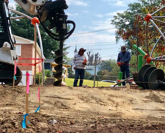 Work at the Augusta Barnett Park playground will take about six months and cost $338,000, including $88,000 for the playground equipment and $250,00 for construction.