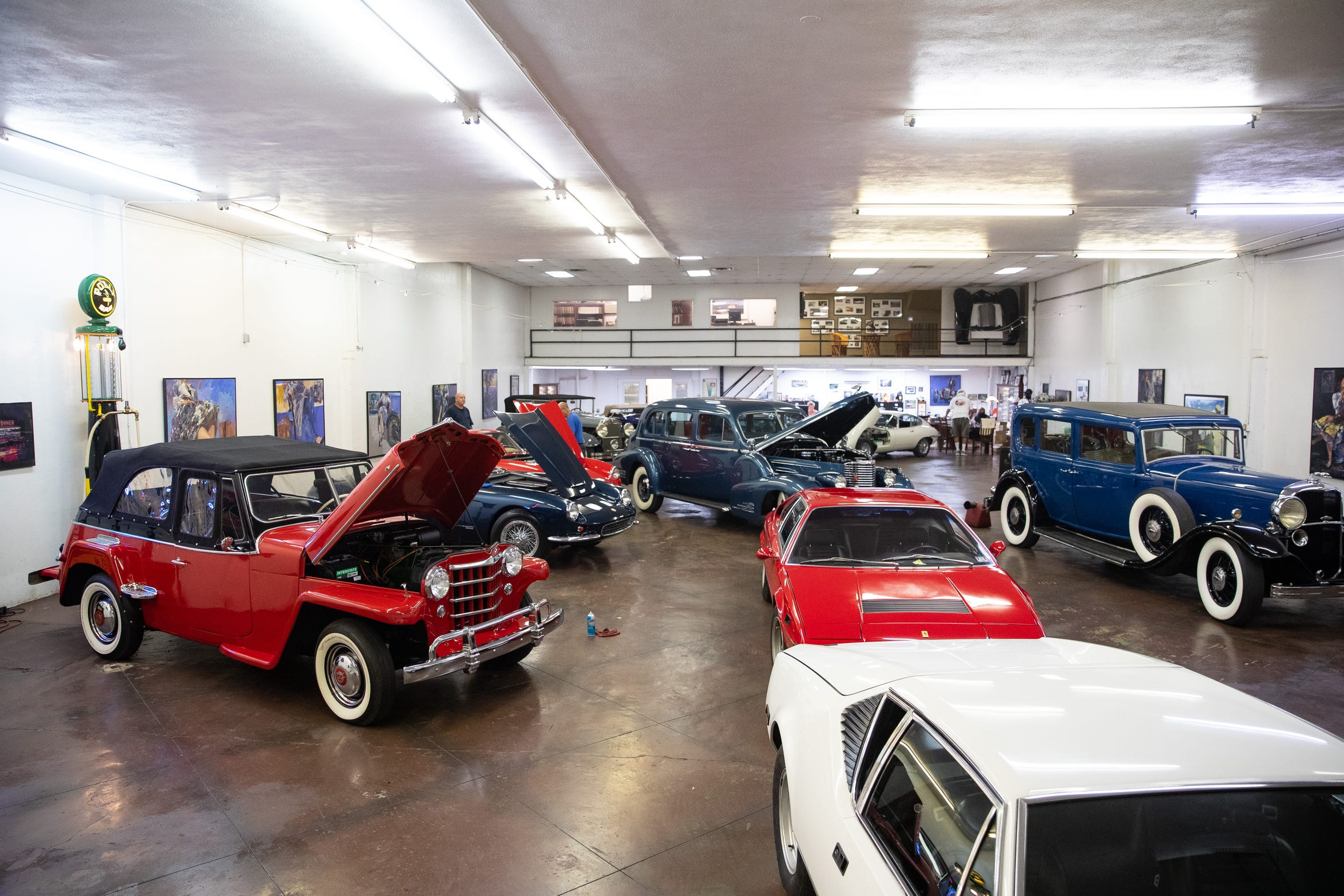 Cars are prepared for an auction of more than 200 cars on Oct. 4-5 at American Bank Center.