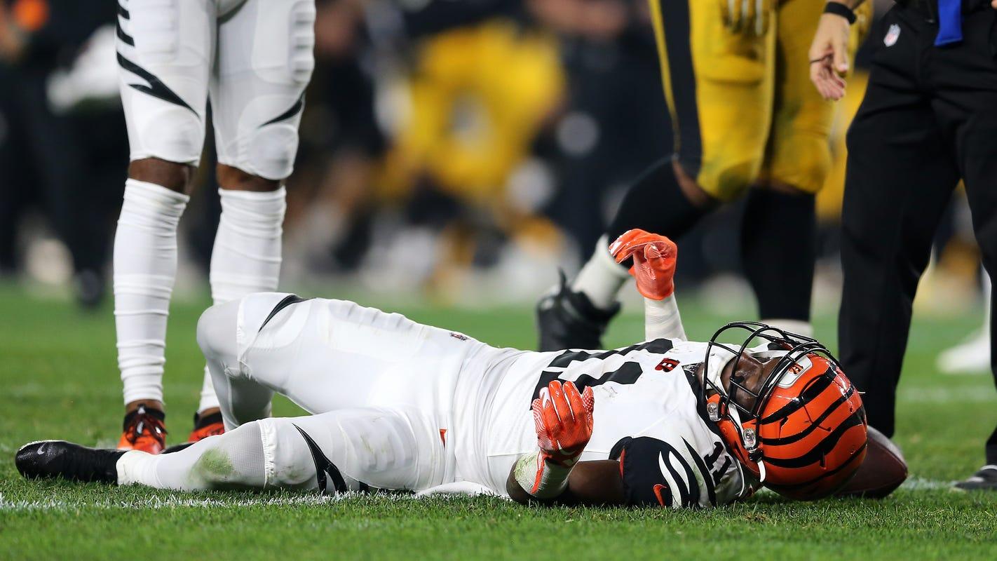 Cincinnati Bengals get one wide receiver back this week, but it's John Ross, not A.J. Green