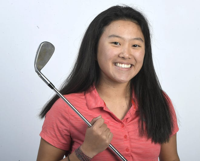 Rossview's Sadie Pan captured her second straight District 10 Large Division golf tournament championship Monday, Sept. 30, 2019 at Swan Lake Golf Course.
