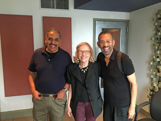 """Quakers: The Quiet Revolutionaries"" narrator-senior producer Richard Nurse of South Brunswick, far left, and producer-director Janet Gardener of Princeton, center, are pictured with actor-director-singer-choreographer Maurice Hines. Their film will air on WHYY (Channel 12) at 6 p.m. on Oct. 6, the sixth annual World Quaker Day."