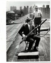 In the spring of 1976, Paul Ganson celebrated the completion of a new roof on Orchestra Hall by playing his bassoon atop the building.