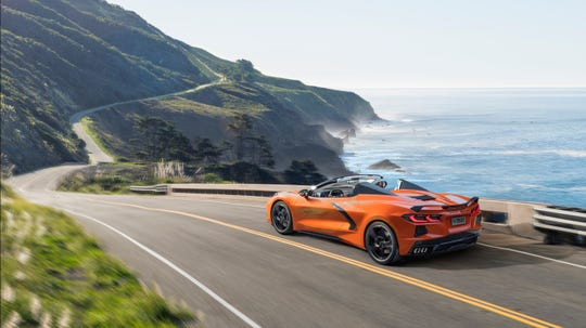 2020 Chevrolet Corvette Stingray convertible's power retractable hard top can be opened or closed at up to 30 mph.