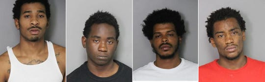 Police say these four men are suspects in a stolen car and theft ring. From left: Carlos Byars-Walker, 21, Detroit; Wellington Littles, 17, Pontiac; Corey Rashada, 21, Highland Park and Kiron Walker-McNeil, 17, Detroit.