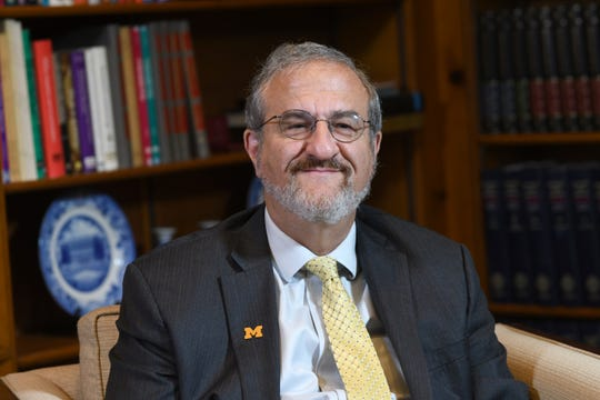 University of Michigan President Mark Schlissel at the President's House, the oldest building on campus.