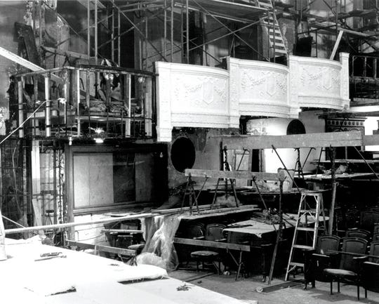 Rebuilding the box seats during the 1970s-80s renovation of Orchestra Hall.