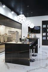 Leonardo's Marble & Granite showroom at Michigan Design Center is a satellite to their Wixom headquarters.