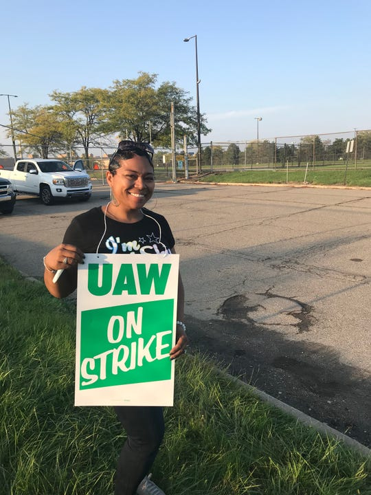 Kimberly Johnson, 39, a Detroit-Hamtramck employee, is starting to feel the financial impact of being on strike. She remains supportive of United Auto Workers leaders as they negotiate with General Motors Co. amid a national strike.