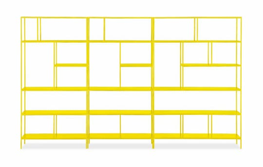 Sunshine yellow: Room & Board's Foshay bookcase is minimal design with maximum impact, $2,147, roomandboard.com. (Room & Board/TNS)
