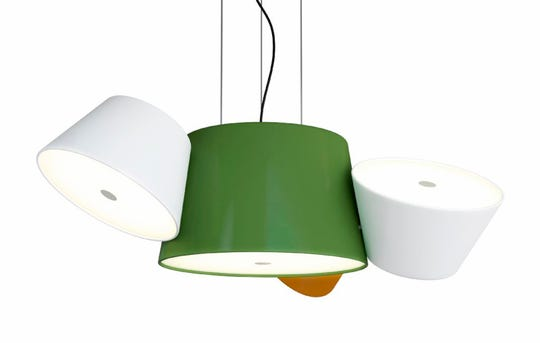 Grass green: Four shades in different hues give the Tam Tam suspension lamp by Fabien Dumas a colorful personality, $1,093, hivemodern.com. (Hive Modern/TNS)