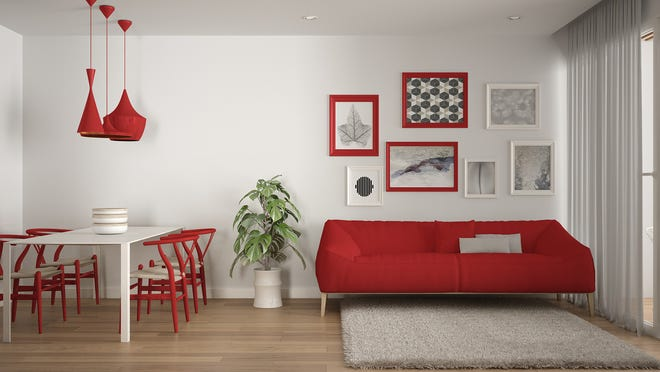 Even in small doses, bright colors can wake up a room, and are coming into home design in unexpected ways. (Dreamstime/TNS)