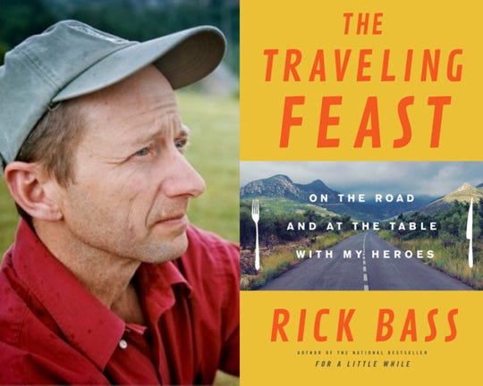 Rick Bass presents about his journey to share a meal with each of his heroes during Saturday's keynote.