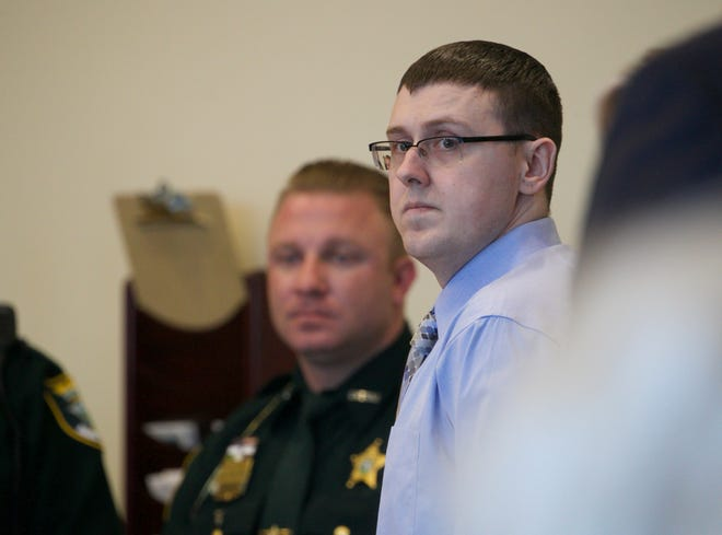 Jimmy Rodgers appears in court Tuesday, Oct. 1, 2019, before jury selection in the case against Rodgers. Rodgers will be tried before his co-defendant Mark Sievers.