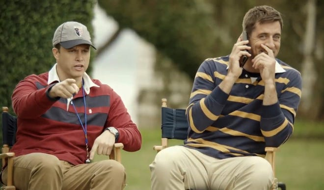 Colin Jost and Aaron Rodgers are back together for a new IZOD campaign.